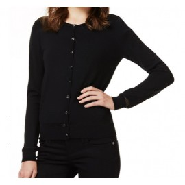 LIU JO  - CARDIGAN 'BLACK SHINE'